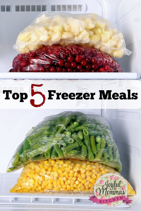 Top 5 Freezer Meals to fill your freezer