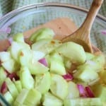 Sweet and Spicy Cucumber Slices