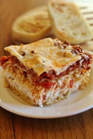 Most popular recipes from Joyful Momma's Kitchen: Million Dollar Spaggetti casserole on Plate