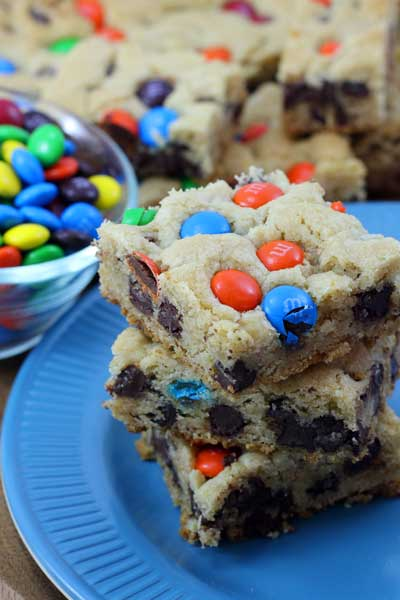 M&M Cookie Bars - Joyful Momma's Kitchen