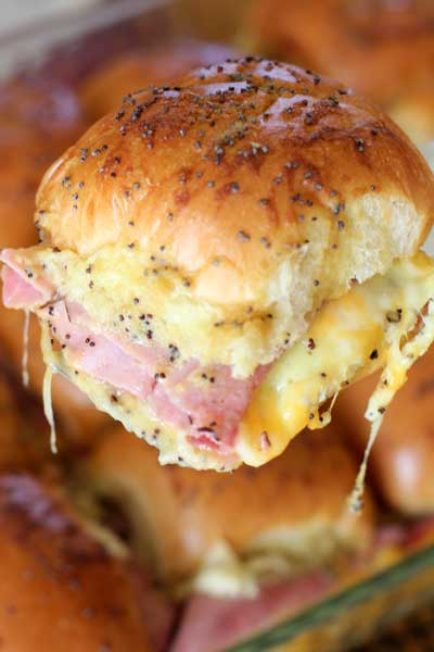 Make ahead breakfast sandwich with melted cheese
