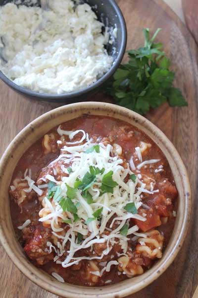 Lasagna Soup {Slow Cooker}