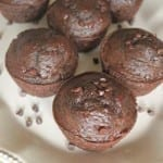 These muffins are perfect! They are mildly sweet and have a rich, deep chocolate flavor that will cure any craving.
