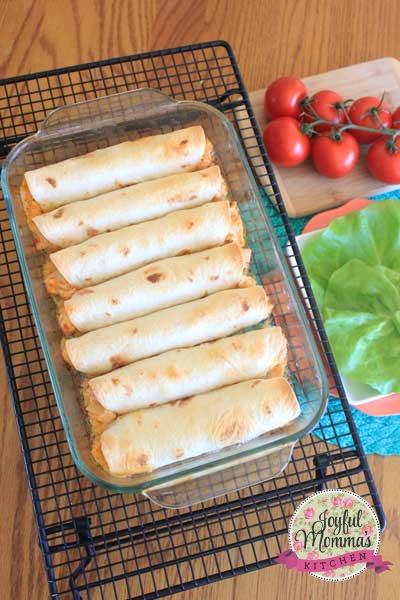 Creamy Chicken Flautas