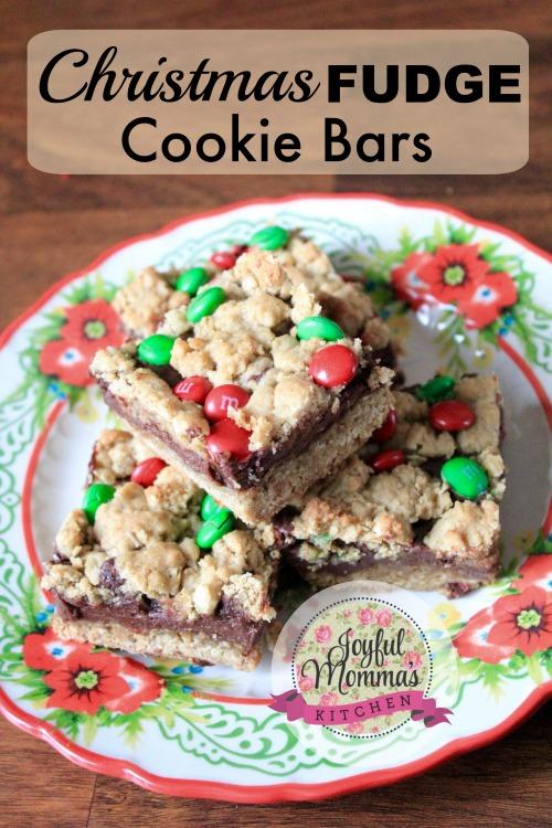 12 Days of Christmas Cookies: Fugde Cookie Bars