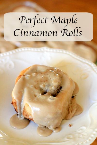Perfect Maple Cinnamon Rolls